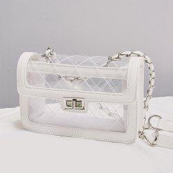 Stitching Transparent Cross Body Bag