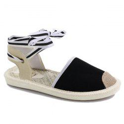 Canvas Slingback Tie Up Sandals