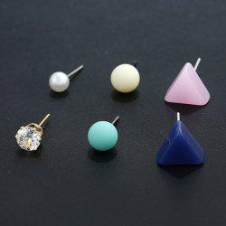 Triangle Shape Three Pairs of Earrings