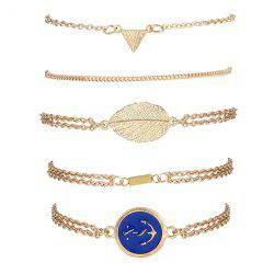 Boat Anchor Badge Alloy Strand Bracelets - GOLDEN