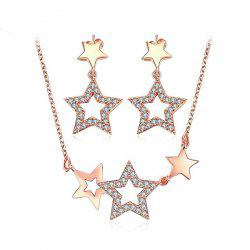 Hollow Out Star Necklace and Earrings
