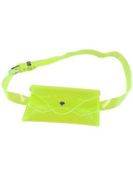Snap Buton Jelly Color Portable Waist Belt Bag