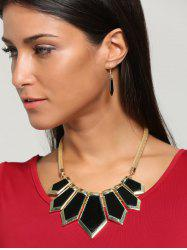 Plating Geometric Statement Necklace Set