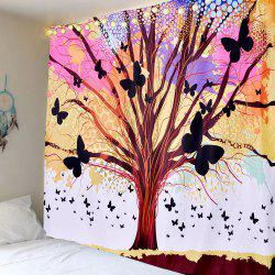 Home Decor Life of Tree Butterfly Wall Hanging Tapestry