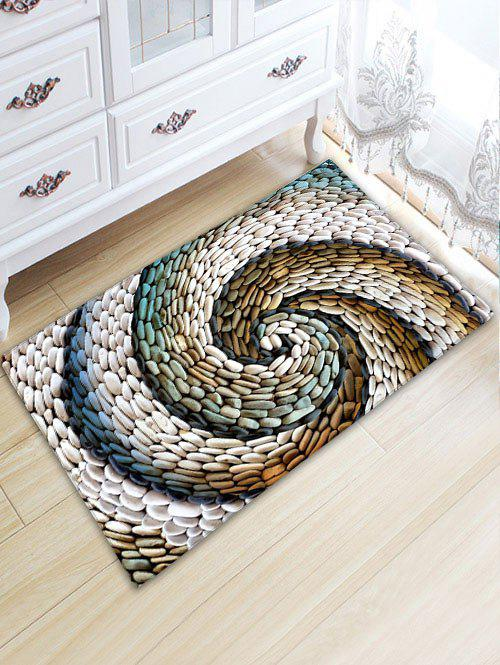 Bathroom Flannel Whirlwind Pebbles Skidproof RugHOME<br><br>Size: W20 INCH * L31.5 INCH; Color: COLORMIX; Products Type: Bath rugs; Materials: Flannel; Pattern: Print; Style: Novelty; Shape: Rectangle; Package Contents: 1 x Rug;
