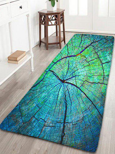 Cracked Wood Pattern Antiskid Flannel RugHOME<br><br>Size: W24 INCH * L71 INCH; Color: GREEN; Products Type: Bath rugs; Materials: Flannel; Pattern: Print; Style: Vintage; Shape: Rectangle; Package Contents: 1 x Rug;