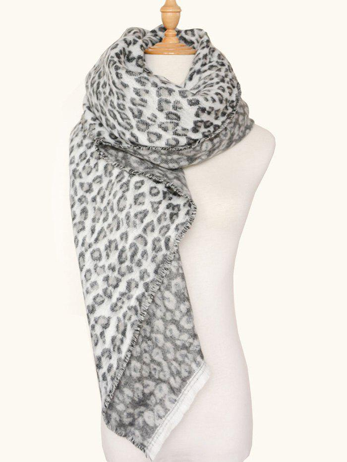 Square Wool Blended Leopard Pattern Warm ScarfACCESSORIES<br><br>Color: LEOPARD PRINT PATTERN; Scarf Type: Scarf; Group: Adult; Gender: For Women; Style: Fashion; Pattern Type: Leopard; Season: Fall,Winter; Scarf Length: 140CM; Scarf Width (CM): 130CM; Weight: 0.1000kg; Package Contents: 1 x Scarf;