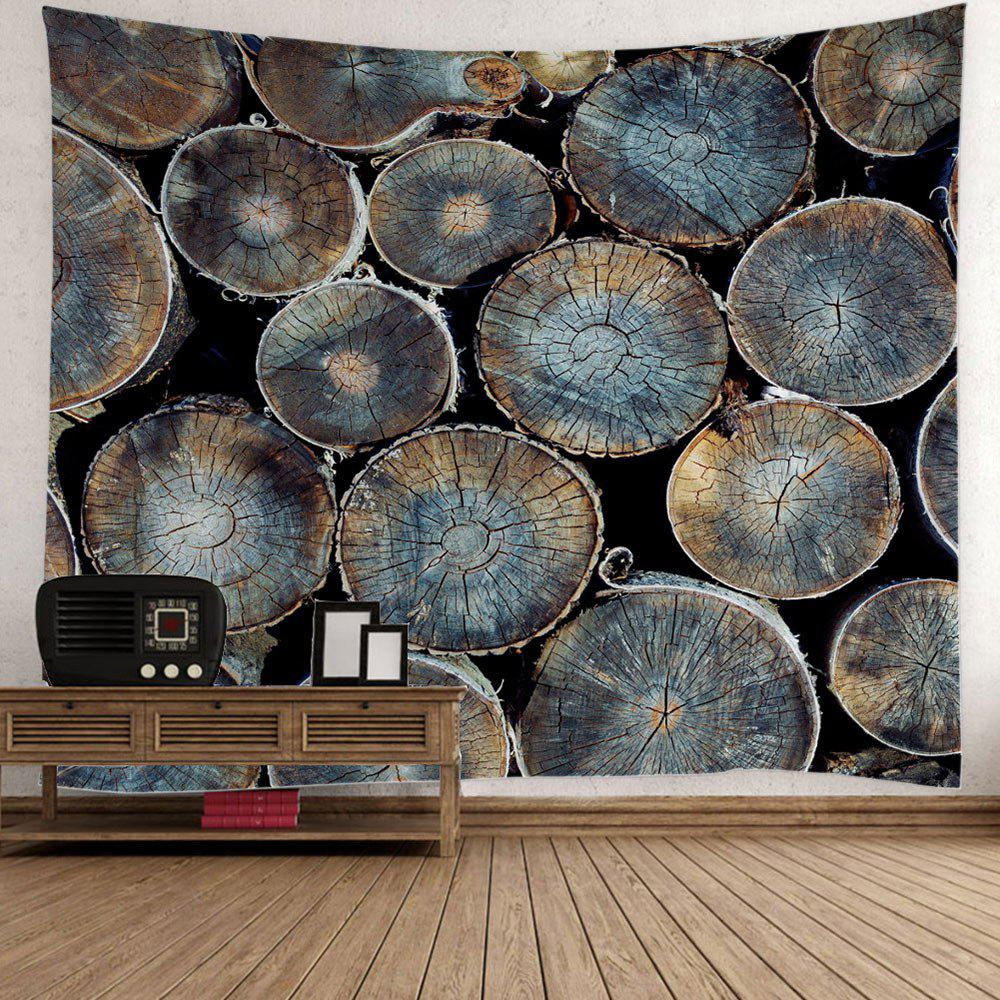 Fancy Natural Wood Fabric Wall Hanging Decor Tapestry