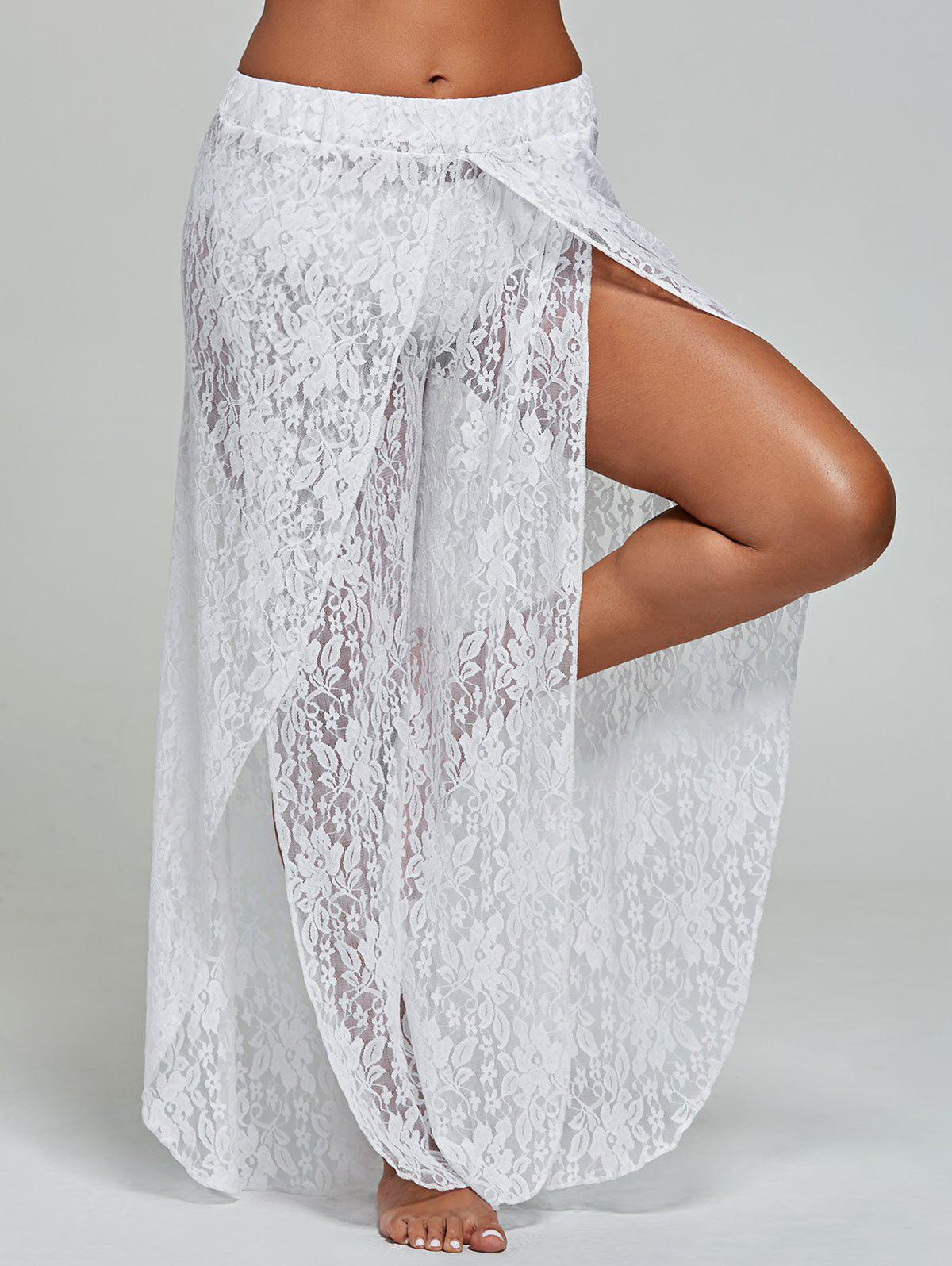 39 Off Lace Tulip Swim Cover Up Pants Rosegal