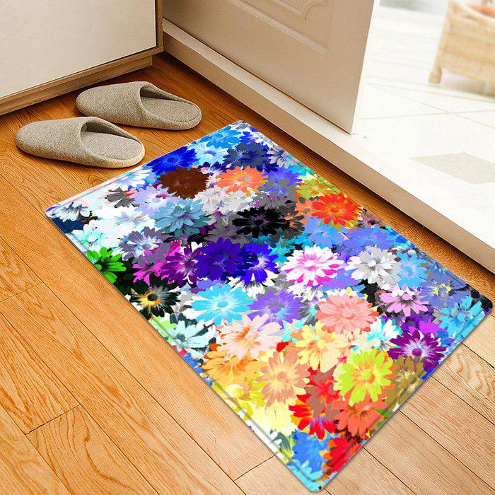 Floral Painting Pattern Anti-skid Water Absorption Area RugHOME<br><br>Size: W16 INCH * L24 INCH; Color: COLORMIX; Products Type: Bath rugs; Materials: Flannel,Sponge; Pattern: Floral; Style: Trendy; Shape: Rectangle; Package Contents: 1 x Rug;
