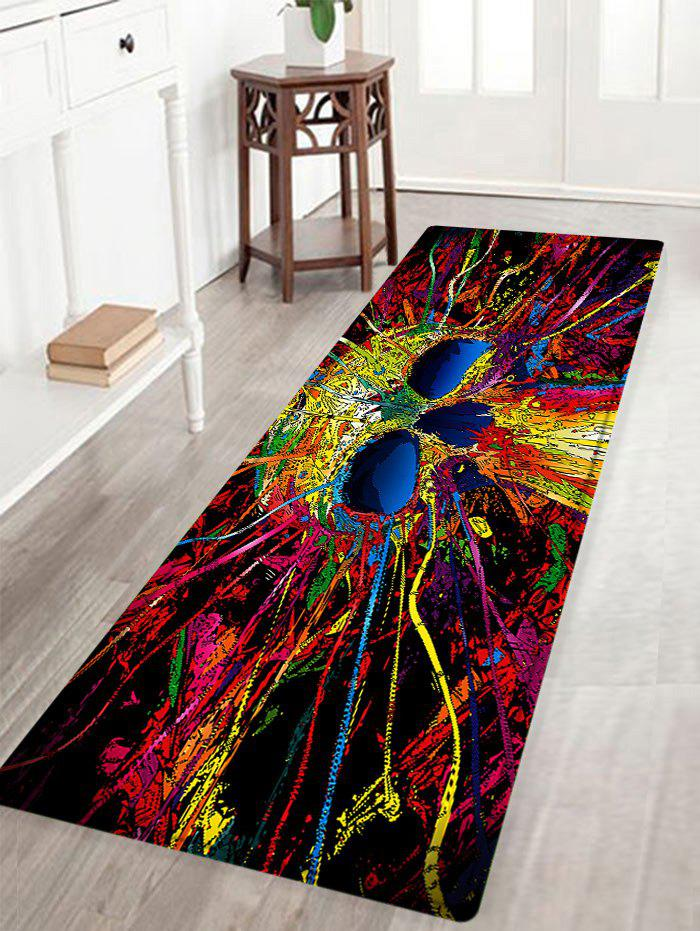 Skull Pattern Anti-skid Water Absorption Area RugHOME<br><br>Size: W16 INCH * L47 INCH; Color: COLORMIX; Products Type: Bath rugs; Materials: Flannel,Sponge; Pattern: Skull; Style: Fashion; Shape: Rectangle; Package Contents: 1 x Rug;