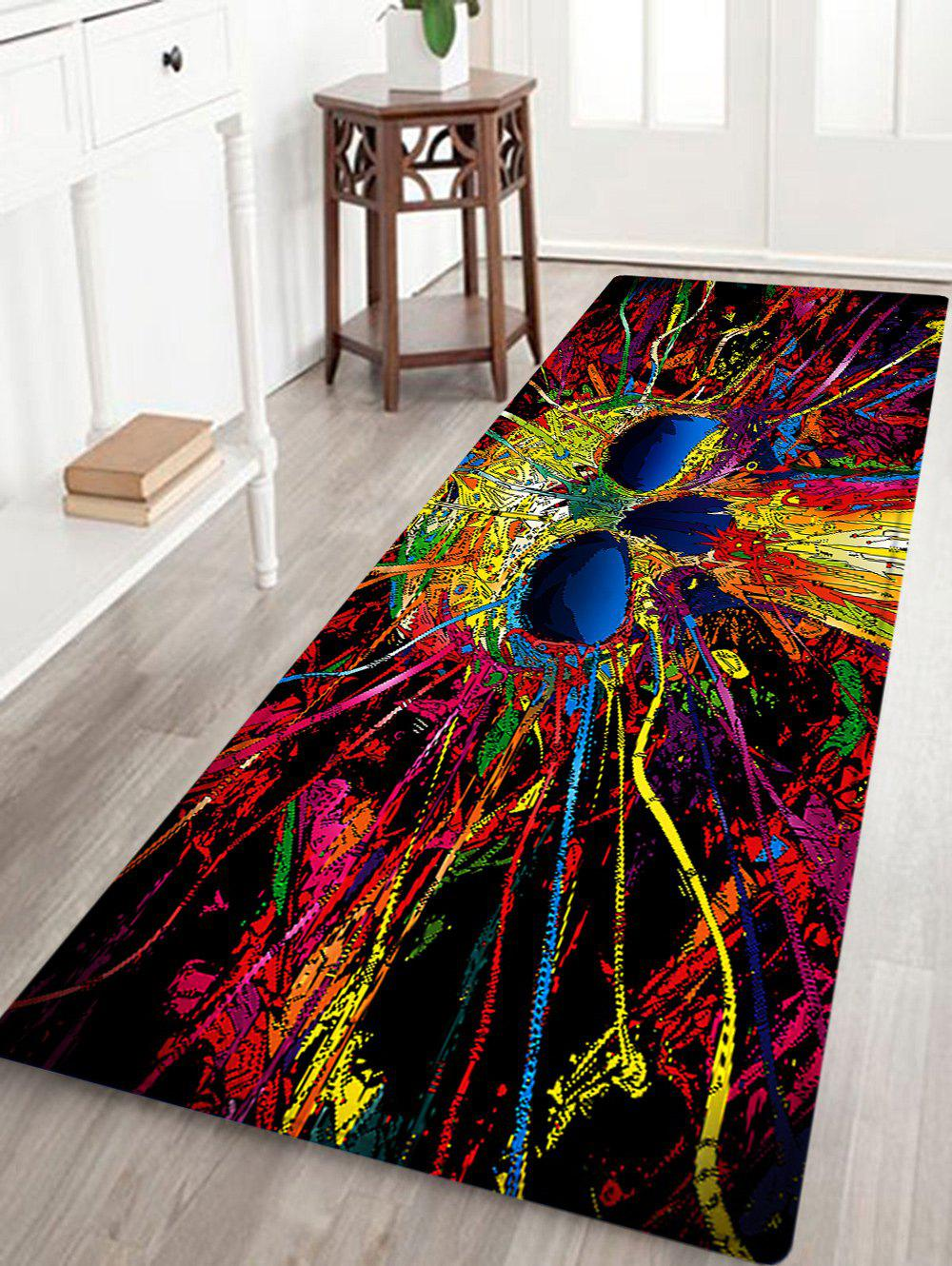 Skull Pattern Anti-skid Water Absorption Area RugHOME<br><br>Size: W24 INCH * L71 INCH; Color: COLORMIX; Products Type: Bath rugs; Materials: Flannel,Sponge; Pattern: Skull; Style: Fashion; Shape: Rectangle; Package Contents: 1 x Rug;