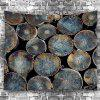 Natural Wood Fabric Wall Hanging Decor Tapestry -