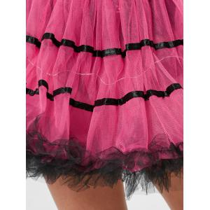 Tier Light Up Color Block Tutu Cosplay Jupe - Rose Foncé TAILLE MOYENNE