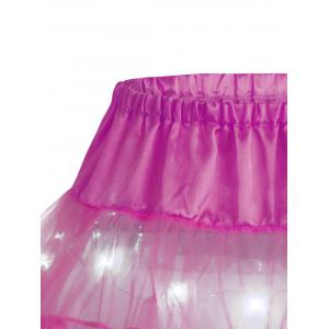 Light Up Ruffles Tutu Voile Cosplay Jupe - Rose Foncé TAILLE MOYENNE