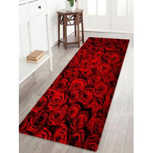 Rose Flower Pattern Anti-skid Water Absorption Area Rug