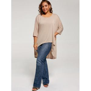 High Low Plus Size Tunic T-shirt -