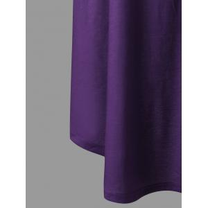 A Line Tunic Plus Size Gradient Color Tank Dress -