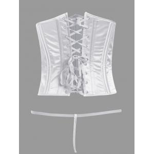 Steel Boned Lace-Up Waist Trainer Corset -