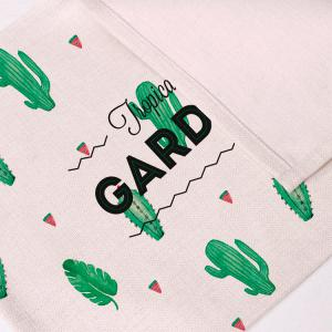 Heat Insulation Table Cactus Printed Placemat - BEIGE PATTERN D