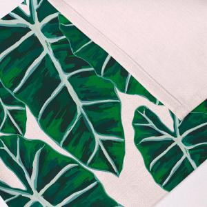 Eco-Friendly Décor de table Feuilles en lin Placemat - Vert 28*44CM