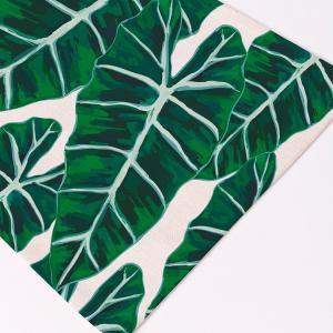 Eco-Friendly Décor de table Feuilles en lin Placemat -