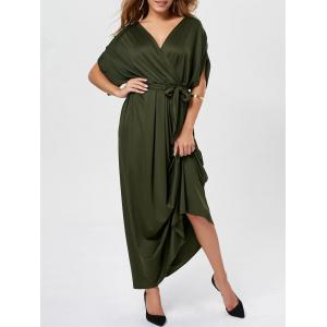 V Neck Surplice Party Long Dress