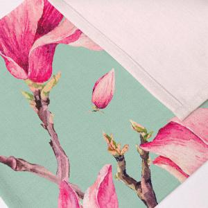 Floral Table Heat Resistant Linen Placemat - LIGHT GREEN PATTERN A
