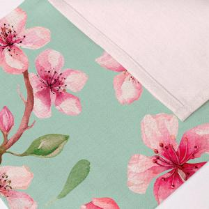 Floral Table Heat Resistant Linen Placemat - LIGHT GREEN PATTERN D