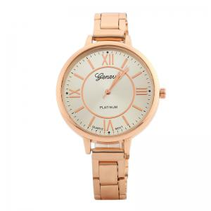 Alloy Strap Roman Numeral Analog Watch