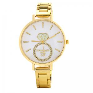 Dianmond Ring Pattern Alloy Strap Watch