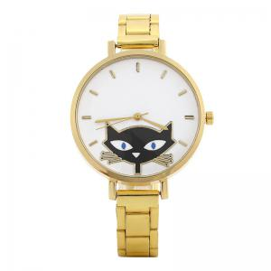 Cat Face Alloy Strap Quartz Watch