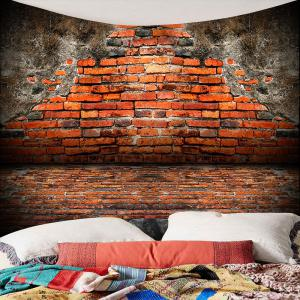 Vintage Waterproof Broken Brick Wall Tapestry -