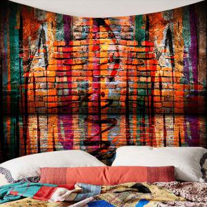 Brick Wall Waterproof Wall Hanging Tapestry -