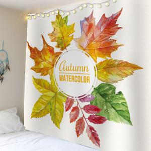 Watercolor Maple Leaf Waterproof Wall Art Tapestry