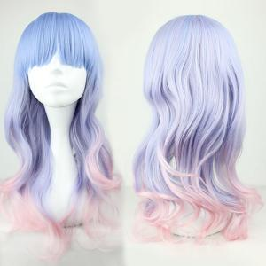 Long Full Bang Colormix Wavy Lolita Synthetic Wig
