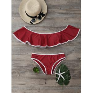 Off The Shoulder Strapless Bikini Set
