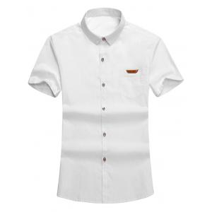 Button Up Front Pocket Short Sleeves Shirt