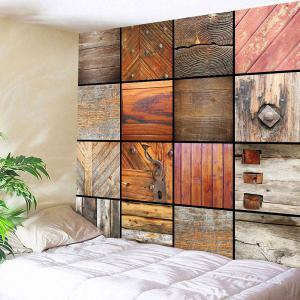 Woody Grid Decorative Wall Art Multiuse Tapestry