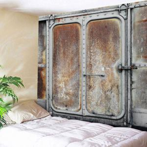 Rusty Metal Door Wall Hanging Throw Tapestry