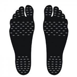 Foot Pads Feet Sticker For Summer Beach Stick On Soles Flexible Feet Protection - Black - S