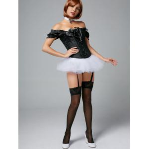 Tier Mesh Light Up Tutu Cosplay Jupe - Blanc TAILLE MOYENNE