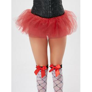 Tier Mesh Light Up Tutu Cosplay Skirt - RED ONE SIZE