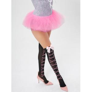Tier Mesh Light Up Tutu Cosplay Skirt - LIGHT PINK ONE SIZE