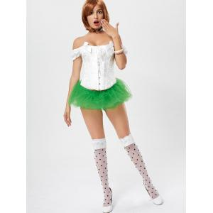 Tier Mesh Light Up Tutu Cosplay Jupe - Vert TAILLE MOYENNE