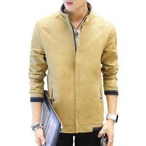 Slimming Stand Collar Jacket