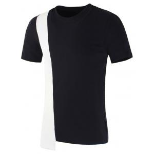Color Splice Asymmetric T-shirt