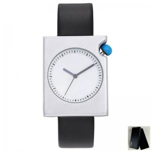 Faux Leather Strap Minimalist Rectangle Watch