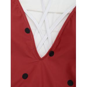Cross Back Watermelon Swimsuit - RED L