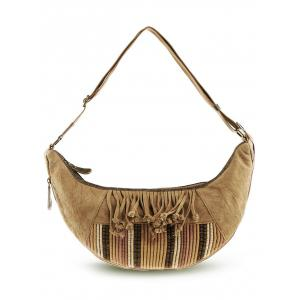 Tassel Linen Ethnic Crossbody Bag